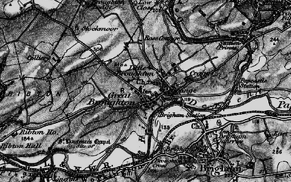 Old map of Great Broughton in 1897