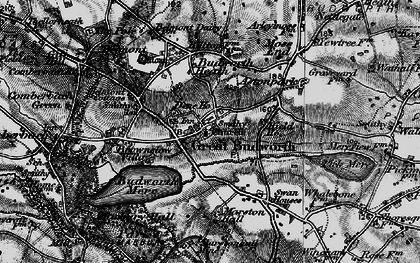 Old map of Great Budworth in 1896