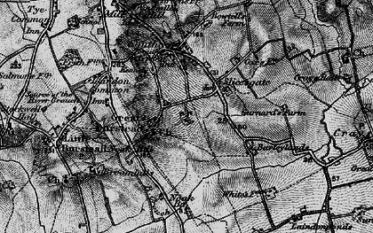 Old map of Great Burstead in 1896