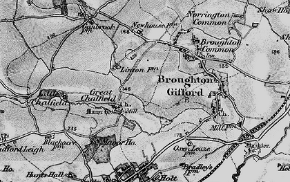 Old map of Great Chalfield in 1898