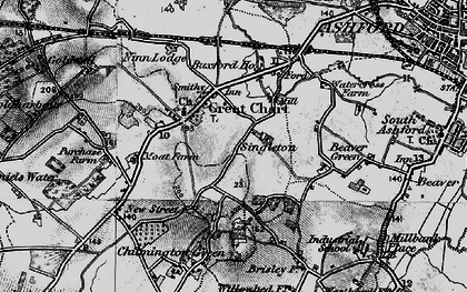 Old map of Great Chart in 1895