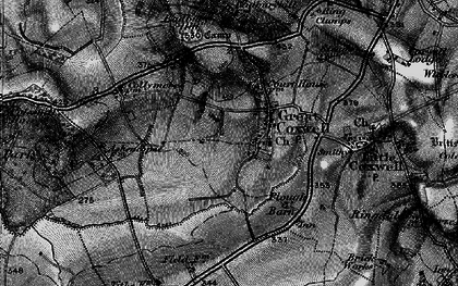 Old map of Badbury in 1896