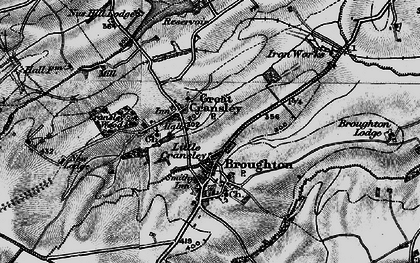 Old map of White Hill Lodge in 1898