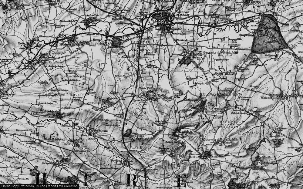 Old Map of Historic Map covering Woodgate Hill in 1899