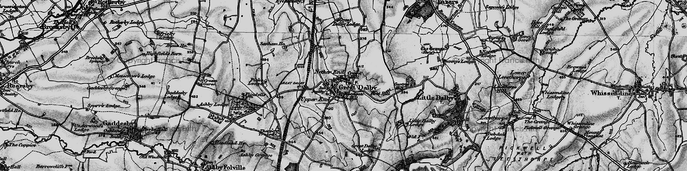 Old map of Woodgate Hill in 1899