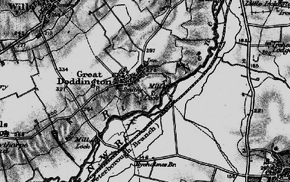 Old map of Great Doddington in 1898