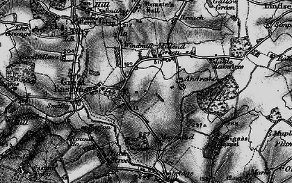 Old map of Great Easton in 1896