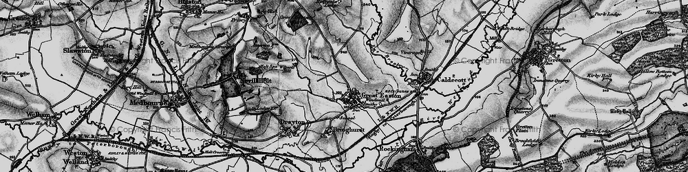 Old map of Wignell Hill in 1898