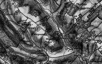 Old map of Great Gaddesden in 1896