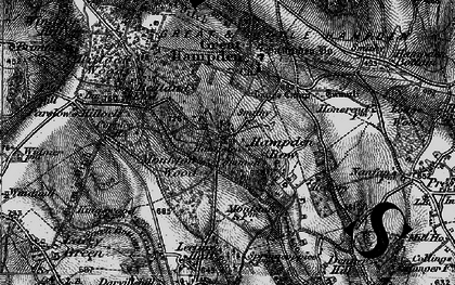 Old map of Great Hampden in 1895