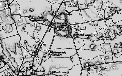 Old map of Withernick Grange in 1897