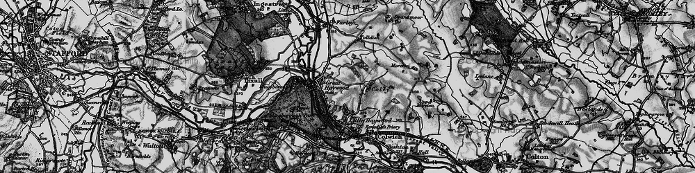 Old map of Tolldish in 1898