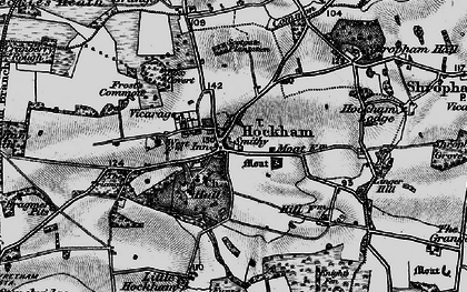 Old map of Great Hockham in 1898