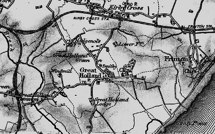 Old map of Great Holland in 1896