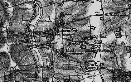 Old map of Great Hormead in 1896