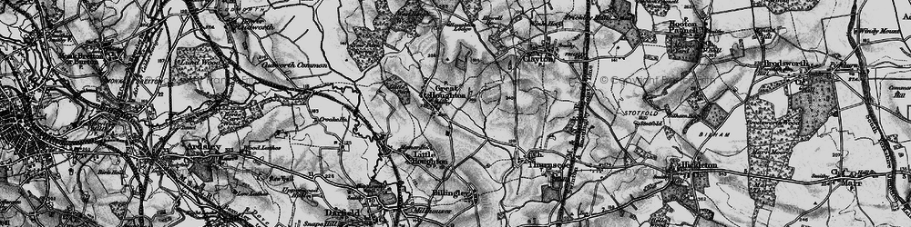 Old map of Great Houghton in 1896