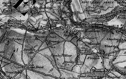 Old map of Great Hucklow in 1896