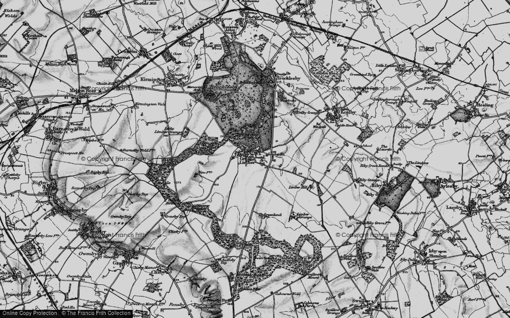 Old Map of Historic Map covering Limber Hill in 1895