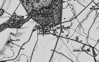Old map of Limber Hill in 1895