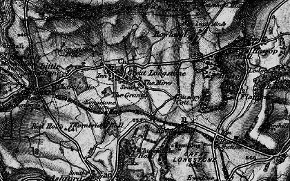 Old map of Great Longstone in 1896
