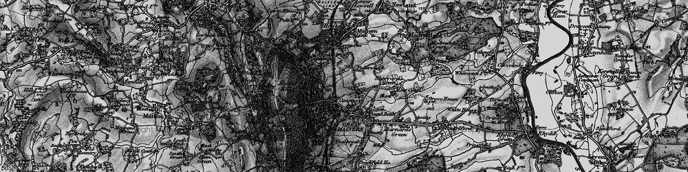 Old map of Great Malvern in 1898