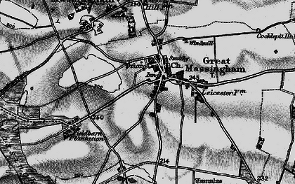 Old map of Great Massingham in 1898