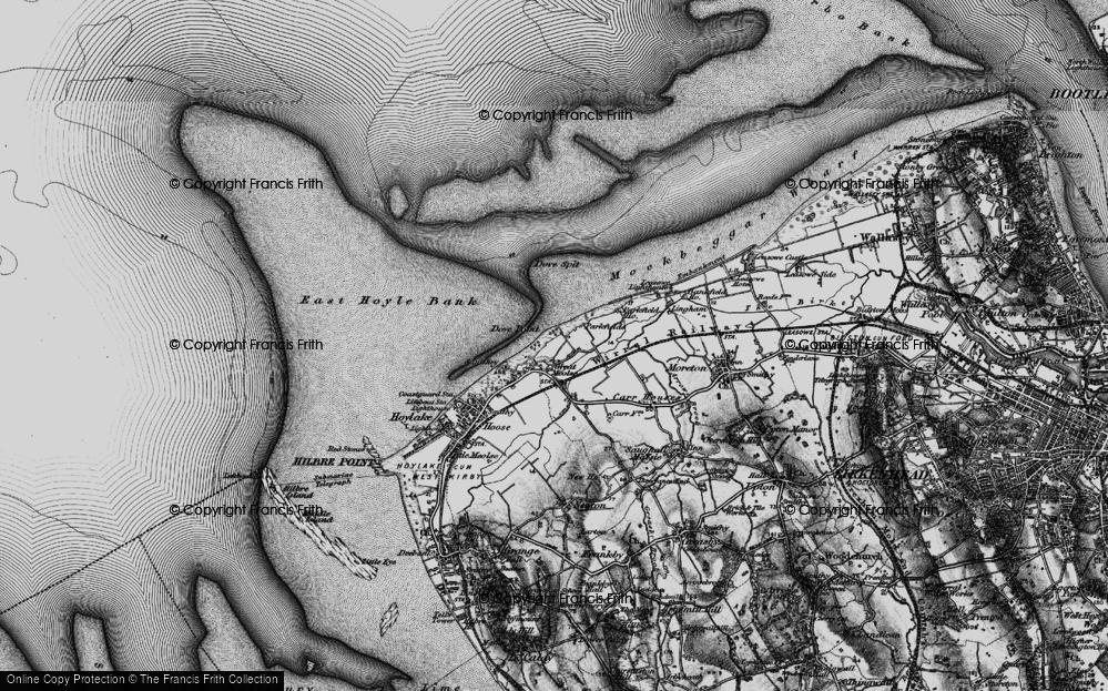 Old Map of Great Meols, 1896 in 1896