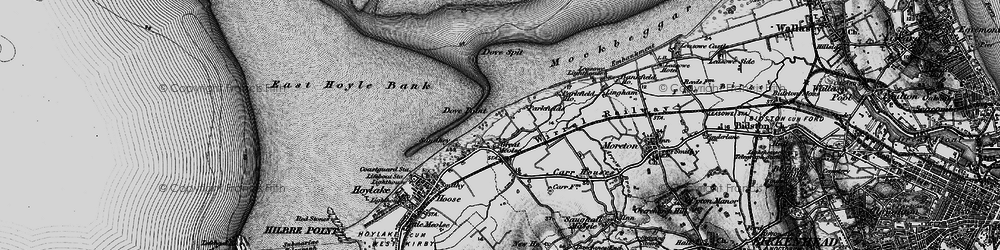 Old map of Great Meols in 1896