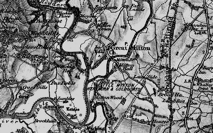 Old map of Great Mitton in 1898