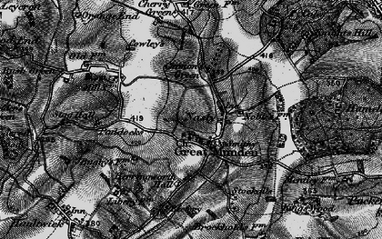 Old map of Great Munden in 1896