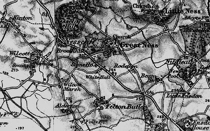 Old map of White Hall in 1899