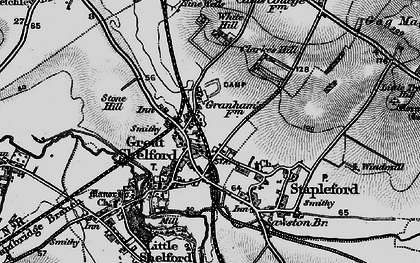 Old map of Great Shelford in 1896