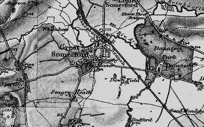 Old map of Great Somerford in 1898