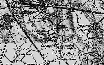 Old map of Great Sutton in 1896
