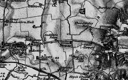 Old map of Great Tarpots in 1896