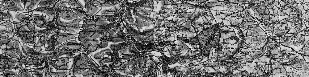 Old map of Great Torrington in 1895