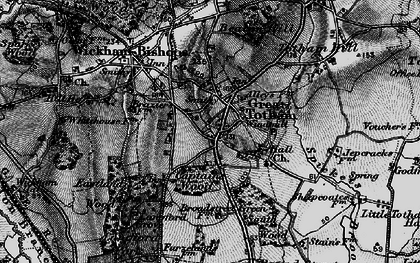 Old map of Langford Grove in 1896