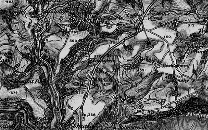 Old map of Great Tree in 1896