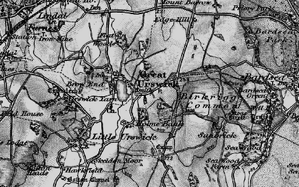 Old map of Great Urswick in 1897
