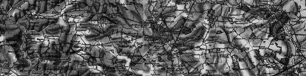 Old map of Great Waltham in 1896