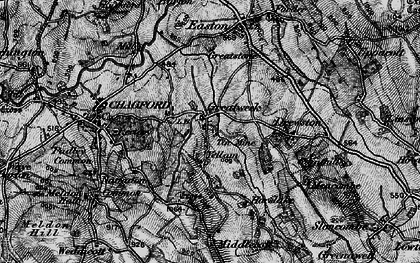 Old map of Yellam in 1898