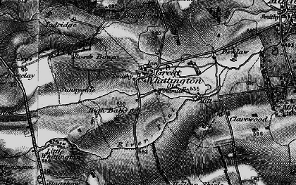 Old map of Whiggs, The in 1897
