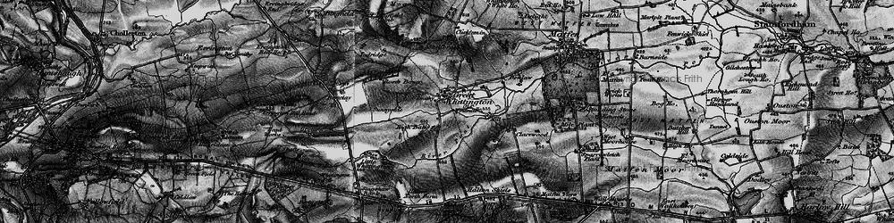 Old map of Todridge in 1897