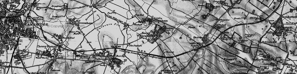 Old map of Wilbraham Temple in 1898