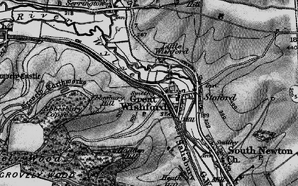 Old map of Great Wishford in 1898