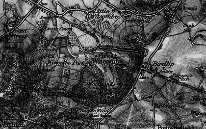 Old map of Witcombe Park in 1896