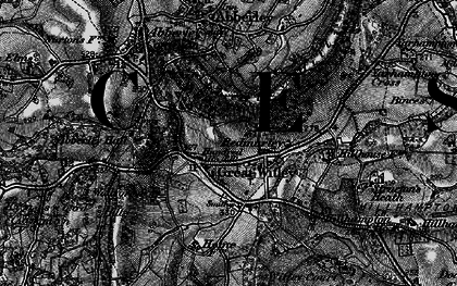Old map of Great Witley in 1898