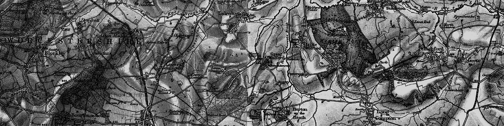 Old map of Wolford Wood in 1898