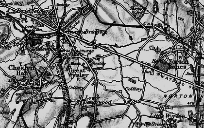 Old map of Great Wyrley in 1898