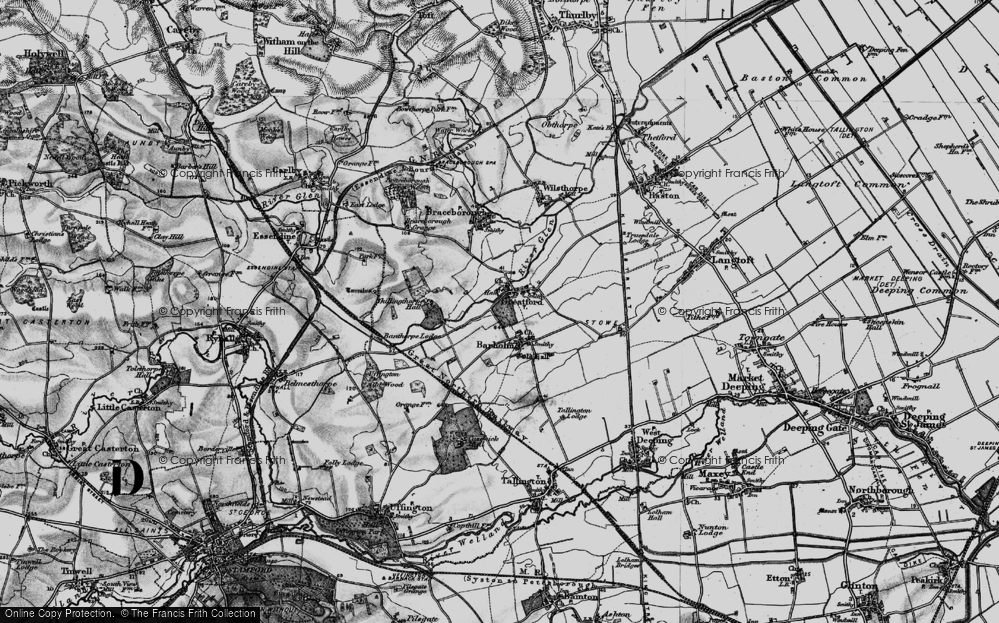 Old Map of Historic Map covering Banthorpe Wood in 1895